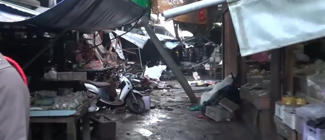 Βομβιστική επίθεση σε αγορά της Ταϊλάνδης (βίντεο)
