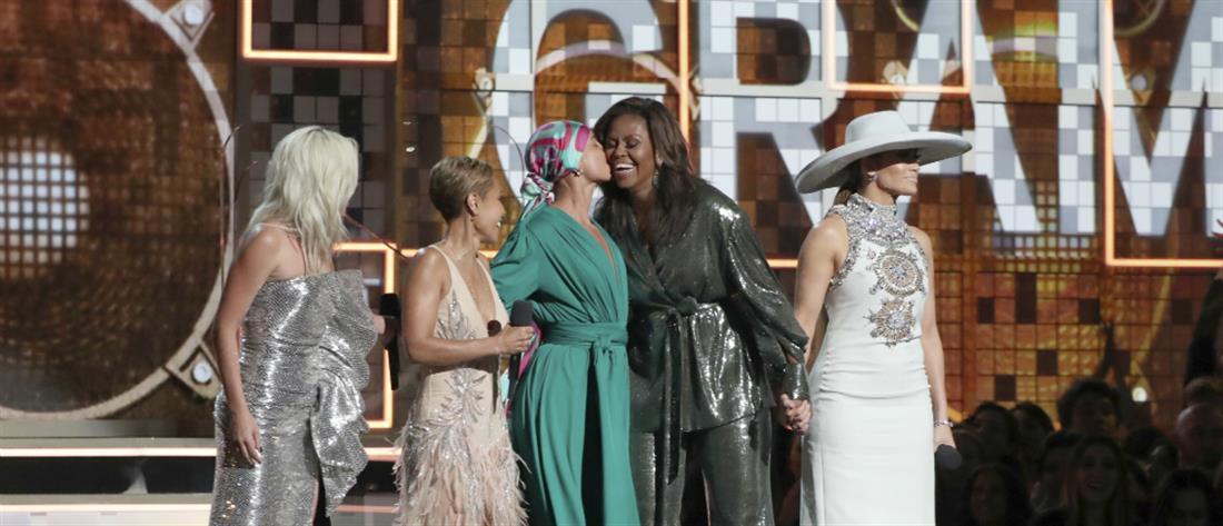 Εμφάνιση-έκπληξη της Μισέλ Ομπάμα στην τελετή απονομής των Grammy