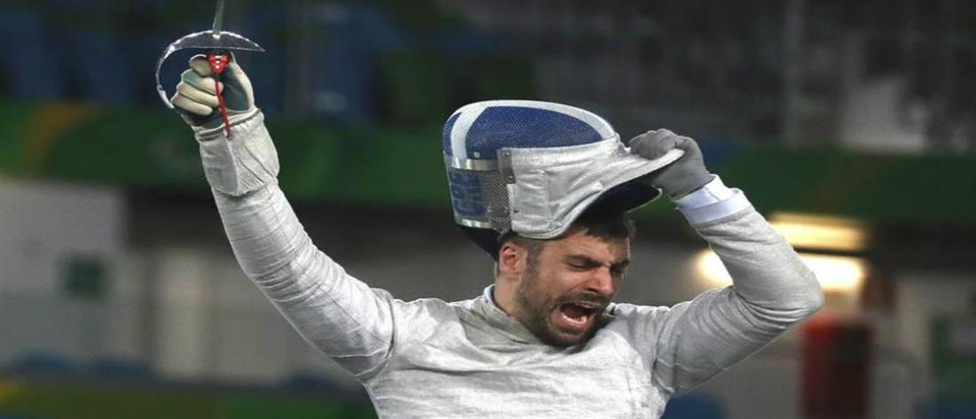 """""""Ασημένιος"""" ο Τριανταφύλλου στο Παγκόσμιο Κύπελλο ξιφασκίας με αμαξίδιο"""