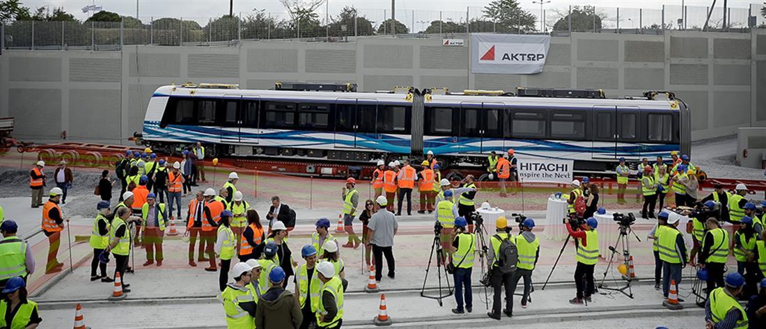 Μετρό Θεσσαλονίκης: Στις ράγες το πρώτο βαγόνι (εικόνες)
