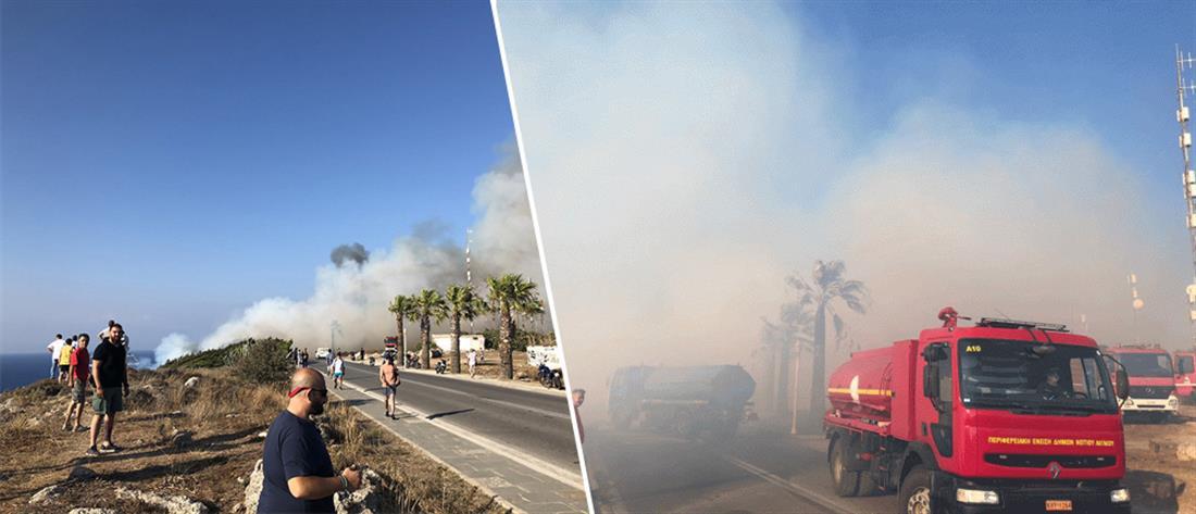 Φωτιά στην Ρόδο (εικόνες)