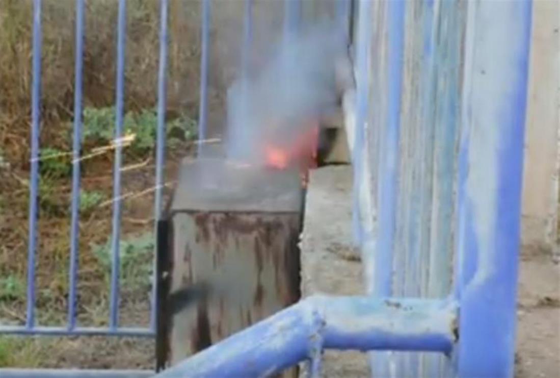 Πυρκαγιά - ρολόι της ΔΕΗ - σχολείο - Αργολίδα
