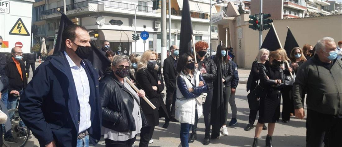 Κοζάνη: Ένταση στην διαμαρτυρία για τα κλειστά καταστήματα (βίντεο)