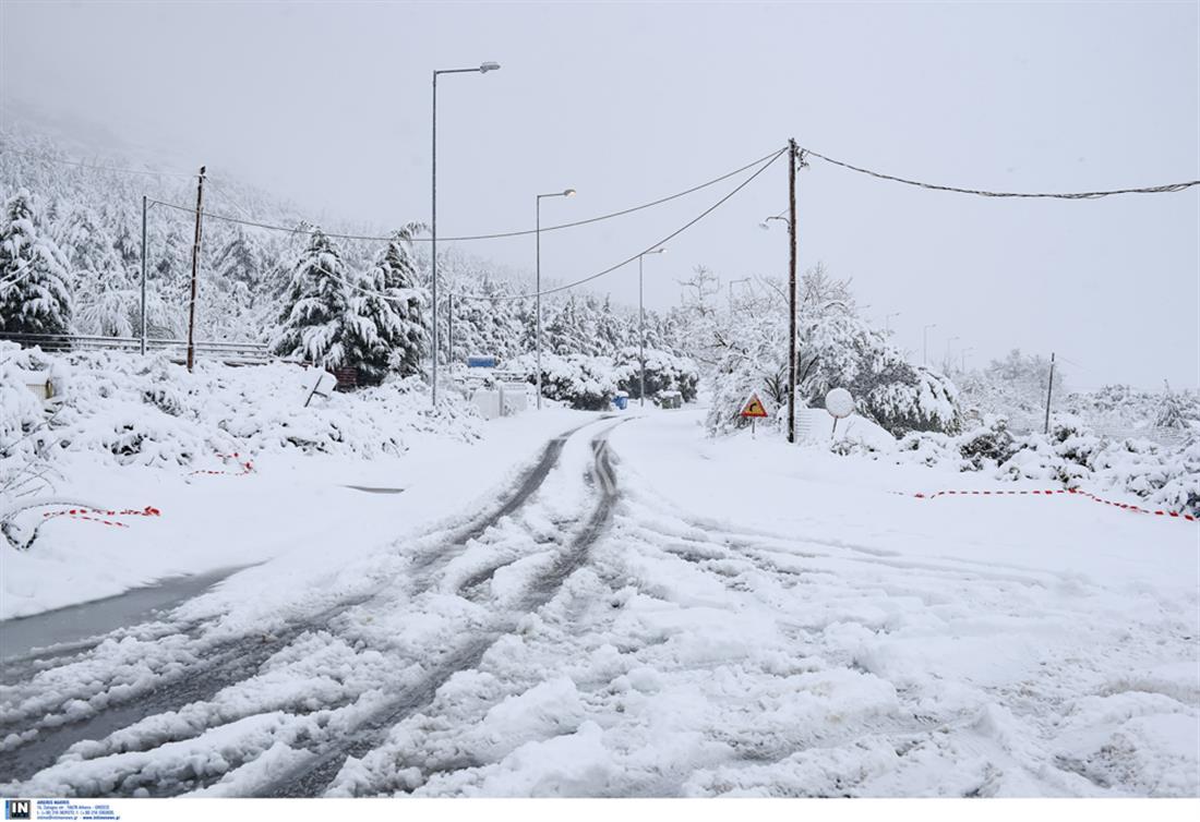 χιόνια - Χορτιάτης