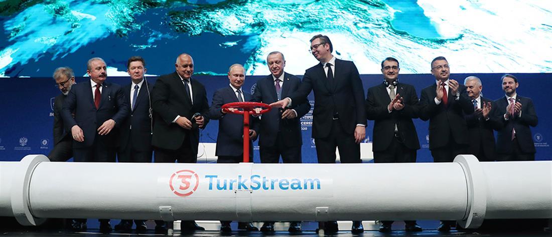 Ερντογάν και Πούτιν στα εγκαίνια του Turkish Stream