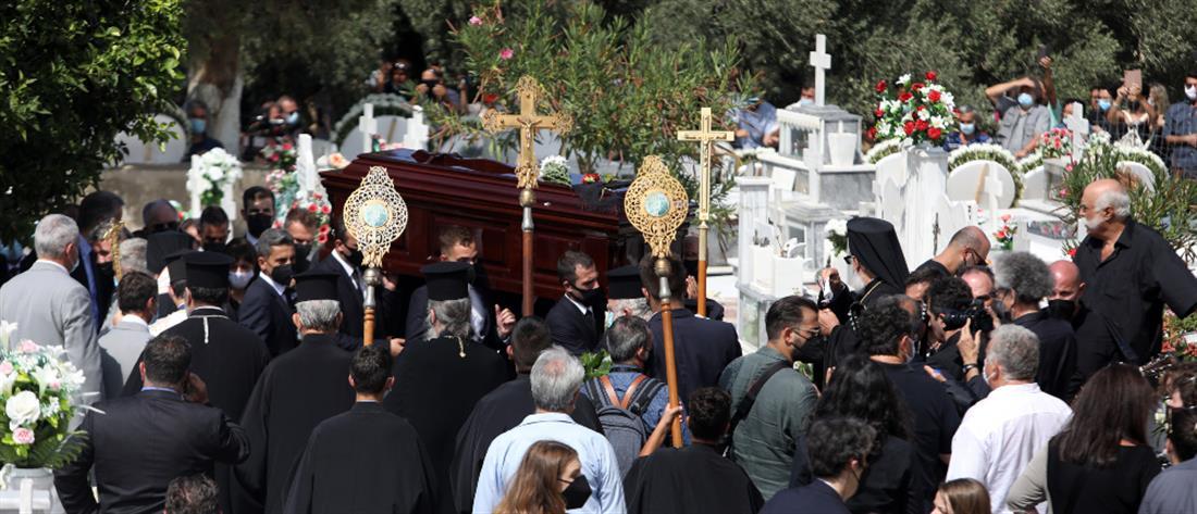 Μίκης Θεοδωράκης - κηδεία - Γαλατάς Χανίων