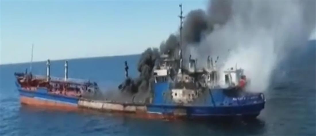 Φωτιά σε πλοίο στην Ελαφόνησο