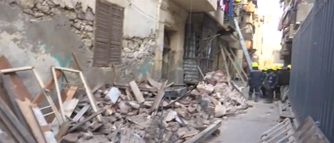 Φονική κατάρρευση κτηρίου στο Κάιρο (εικόνες)