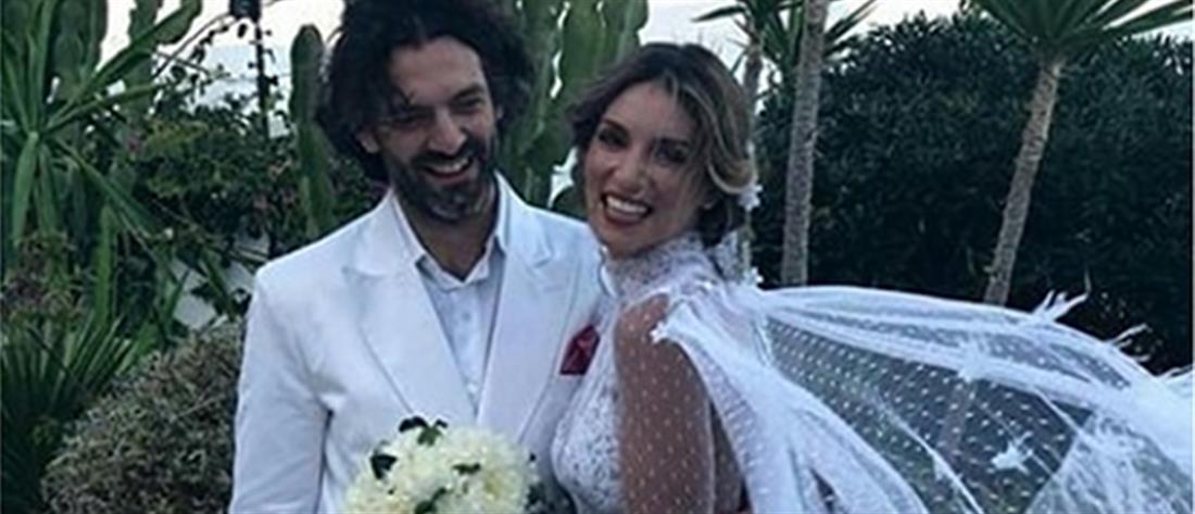 O λαμπερός γάμος της Αθηνάς Οικονομάκου (εικόνες)