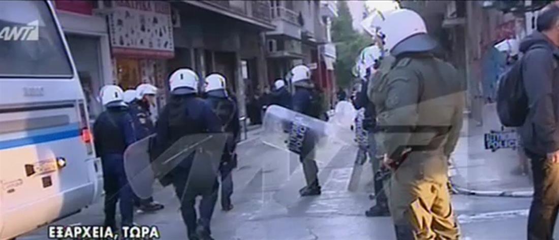 Επιχείρηση της Αστυνομίας σε υπό κατάληψη κτήριο στα Εξάρχεια