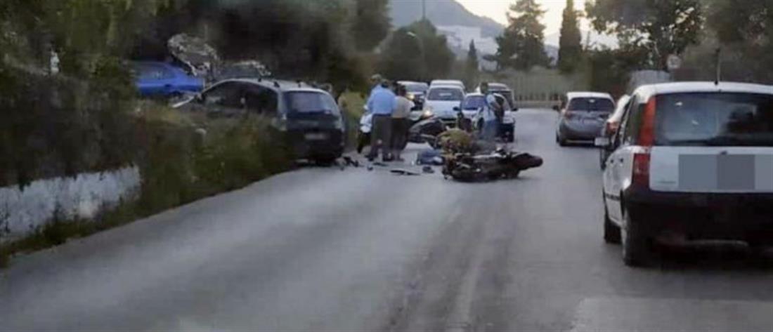 Σοκαριστικό τροχαίο με θύμα μοτοσικλετιστή (εικόνες)