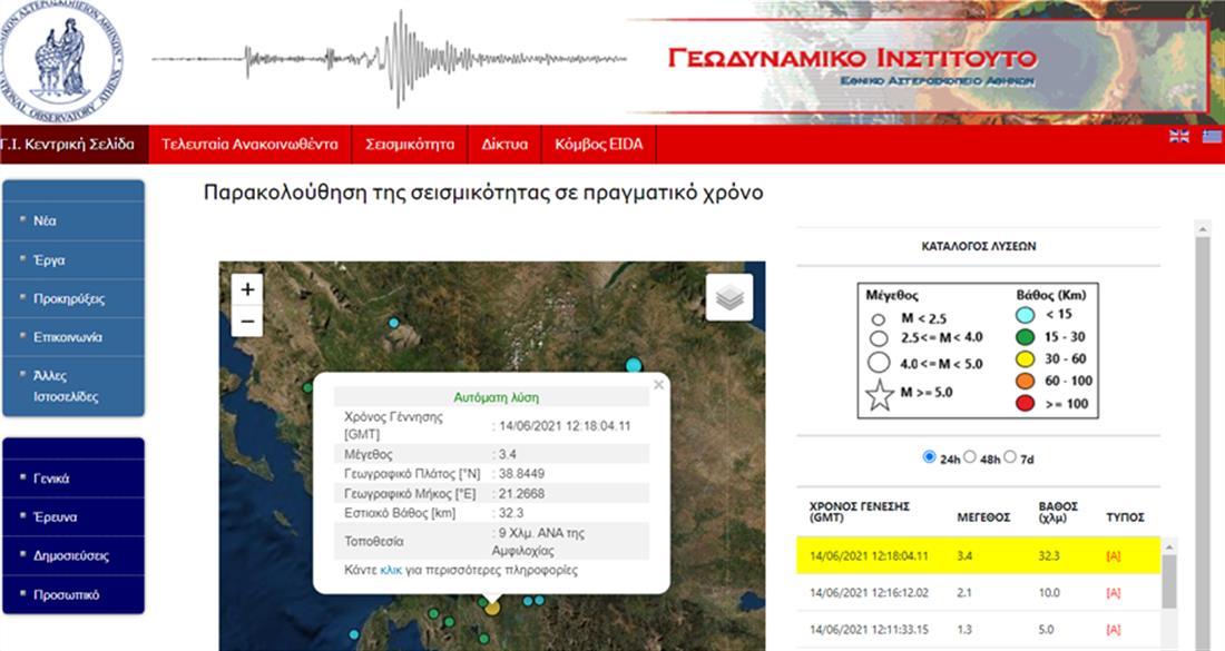 Σεισμός - Αμφιλοχία