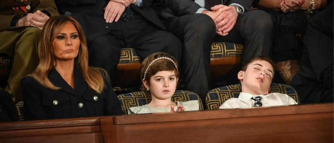 Αποκοιμήθηκε ακούγοντας τον Τραμπ ο 11χρονος ...Τραμπ! (εικόνες)