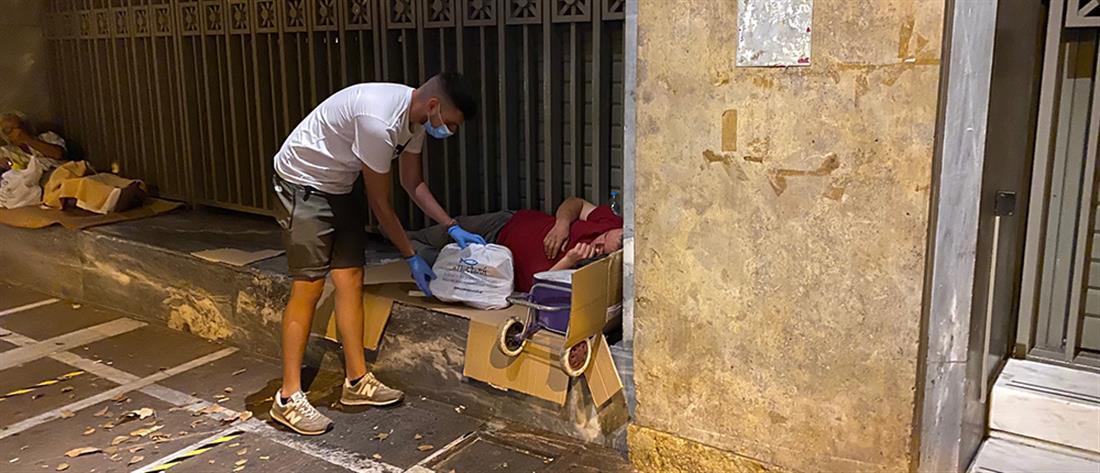 """Η """"ΑΠΟΣΤΟΛΗ"""" στους αστέγους εν μέσω κορονοϊού"""