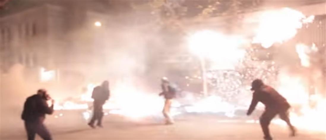 Βίντεο των αναρχικών απο τα επεισόδια στην πορεία για τον Γρηγορόπουλο