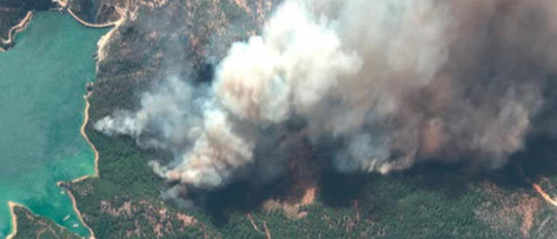 Οι φωτιές στην Τουρκία από δορυφόρο (εικόνες)