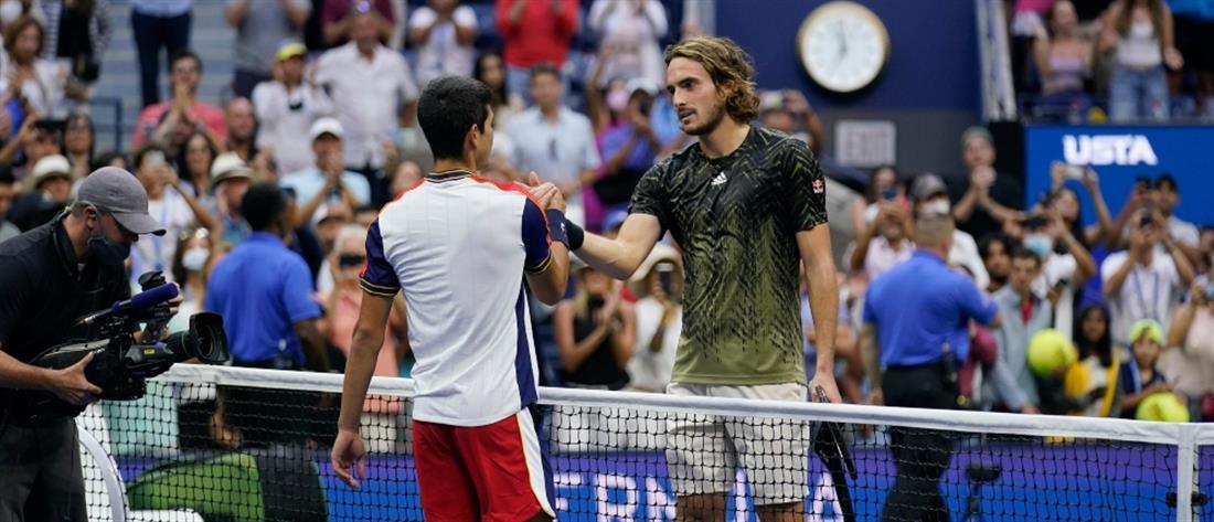 US Open: Ο Τσιτσιπάς αποκλείστηκε από τον Αλκαράθ