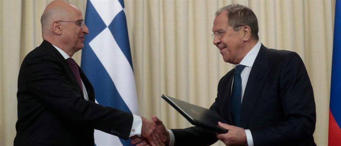 Δένδιας – Λαβρόφ: συμφωνία για στενότερη συνεργασία Ελλάδας – Ρωσίας (εικόνες)