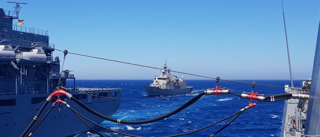 Συνεκπαίδευση μονάδων του Πολεμικού Ναυτικού και της SNMG2 στο Αιγαίο (εικόνες)