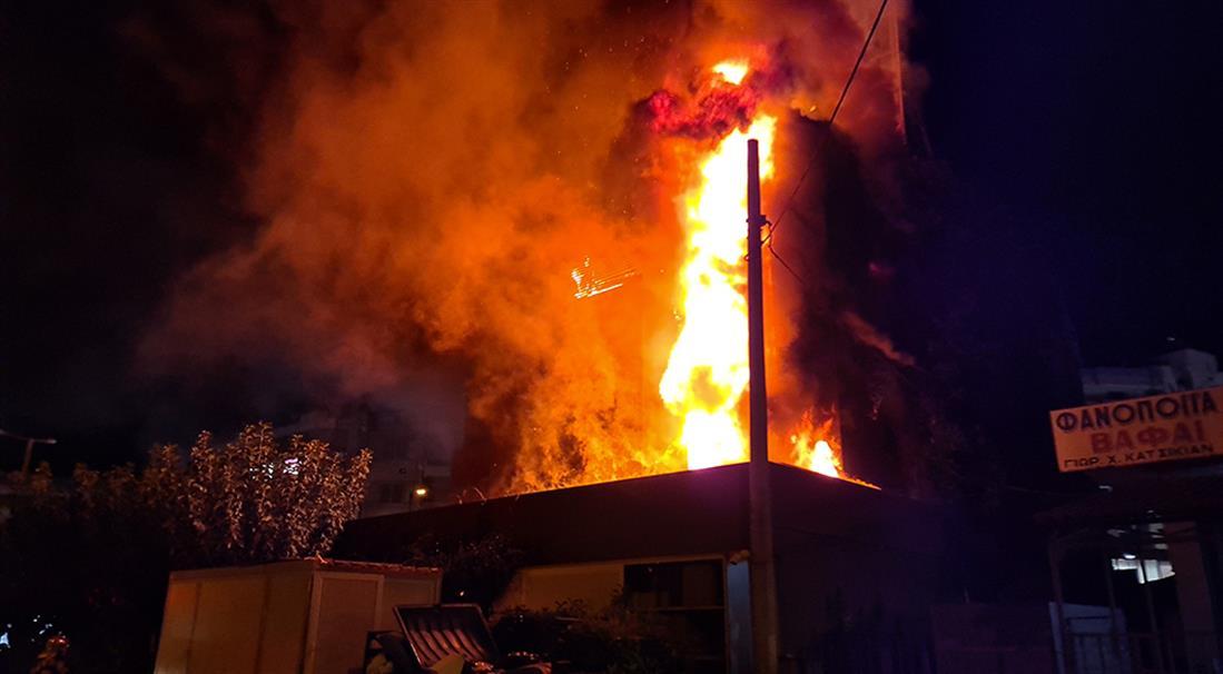 Φωτιά - κατάστημα - Παλαιό Φάληρο
