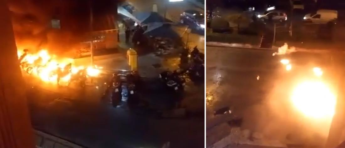 Νέα επίθεση με μολότοφ στην έδρα της ΥΜΕΤ στην Καισαριανή (βίντεο)