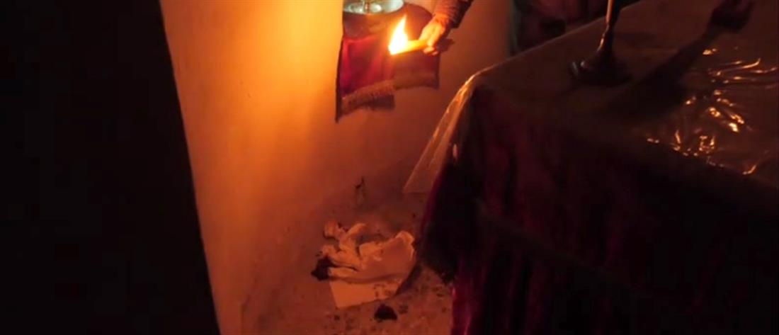 Βέβηλοι αφόδευσαν σε εκκλησάκι (εικόνες)