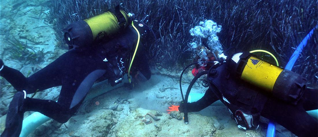 Εντυπωσιακές εικόνες από την υποβρύχια έρευνα στον αρχαίο Ολούντα