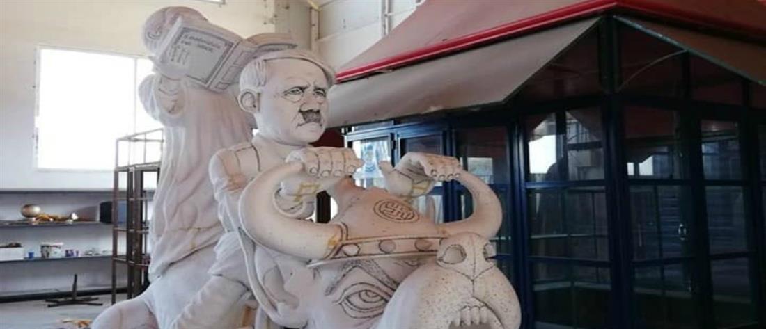Σάλος στην Πάτρα από την απαγόρευση άρματος με τον Αμβρόσιο και τον Χίτλερ