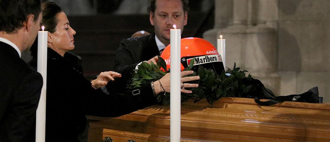 Με το κράνος του κηδεύεται ο Νίκι Λάουντα (εικόνες)