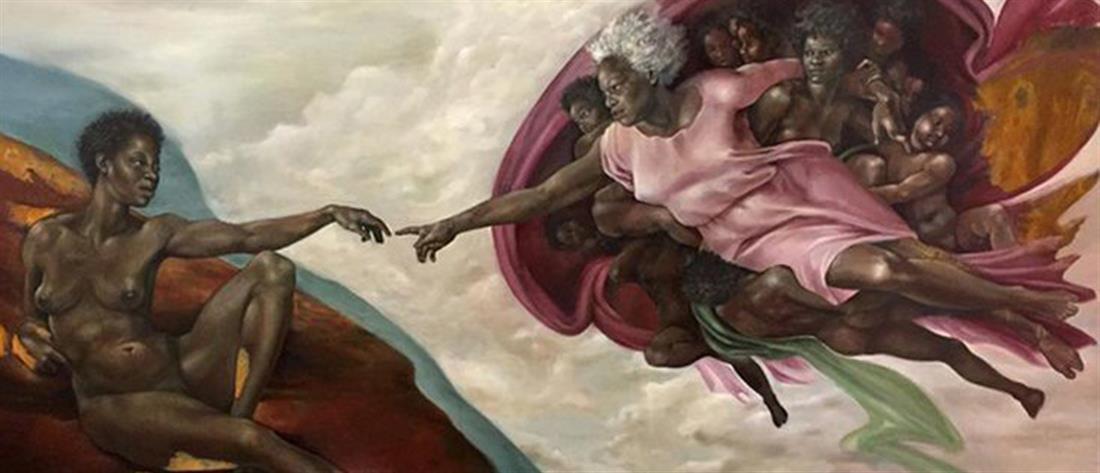"""Ζωγράφισε τον Θεό ως μαύρη γυναίκα, """"άναψε"""" η συζήτηση (φωτό)"""