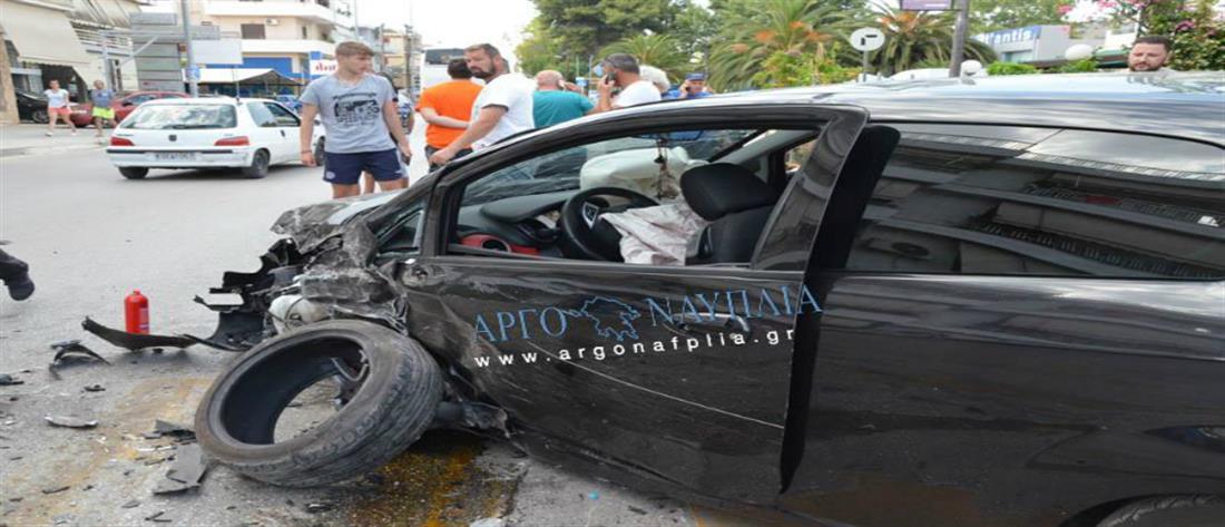 Εικόνες – σοκ: Ηλικιωμένη προκάλεσε καραμπόλα στο Ναύπλιο