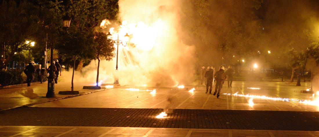 Επεισόδια μετά την πορεία για τον Κουφοντίνα στην Θεσσαλονίκη (εικόνες)