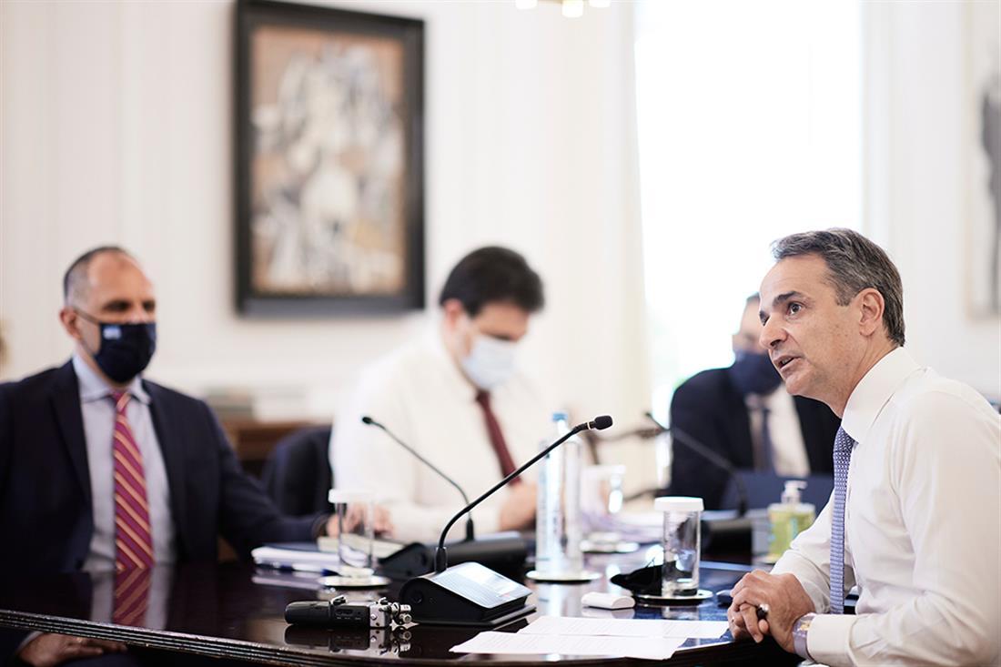 Κυριάκος Μητσοτάκης - συνεδρίαση Υπουργικού Συμβουλίου