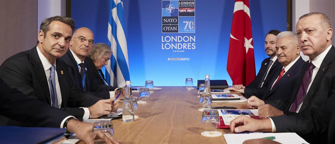 Εφ' όλης της ύλης η συνάντηση Μητσοτάκη-Ερντογάν