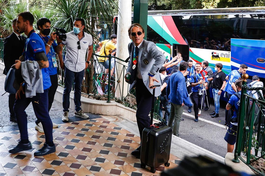 Ιταλοί παίκτες - επιστροφή -  Ρώμη - Euro 2020