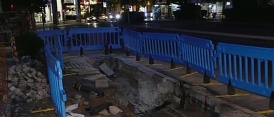 Εκρήξεις - καλώδια της ΔΕΗ - πλατεία Κολωνακίου