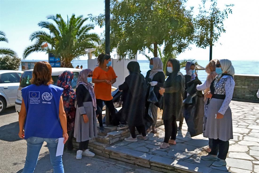 Καβάλα - μετανάστες - Δομή Ασημακοπούλου - καθαρισμός ακτής Περιγιαλίου