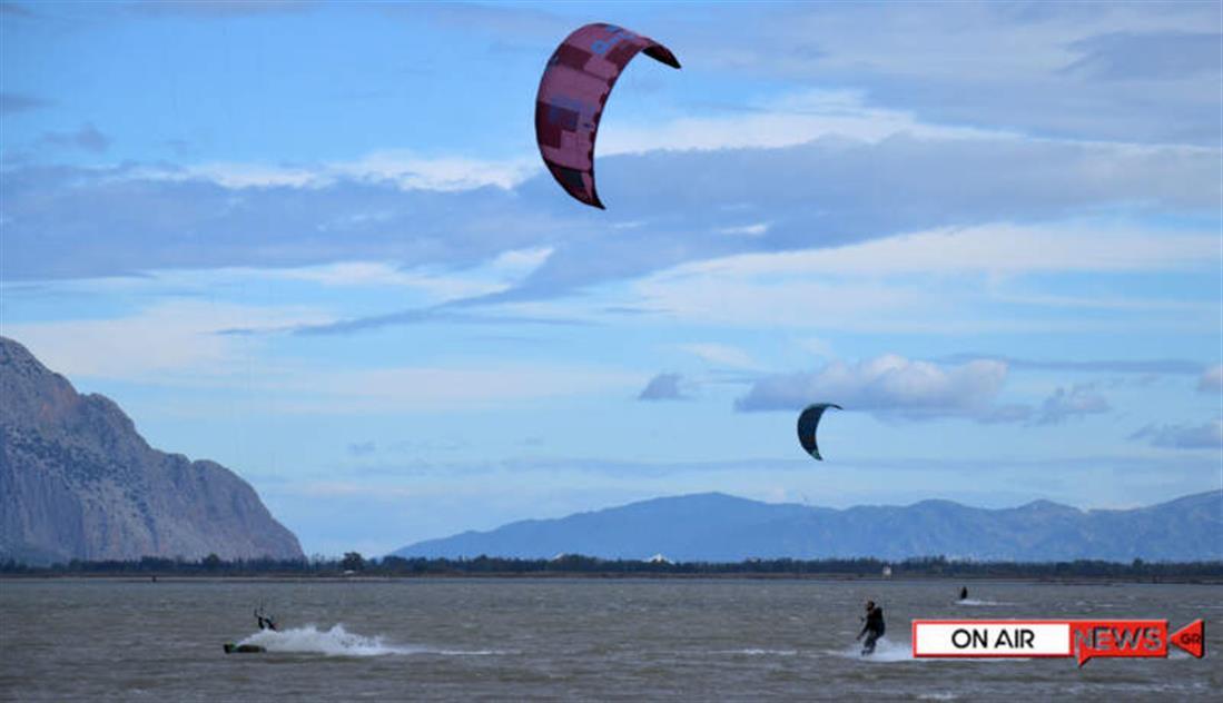 Μεσολόγγι - kitesurf - λιμνοθάλασσα