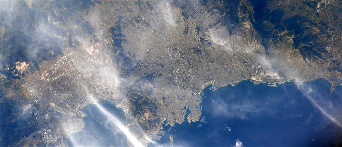 Η Αθήνα από το Διάστημα: Φωτογραφία από τον Διεθνή Διαστημικό Σταθμό