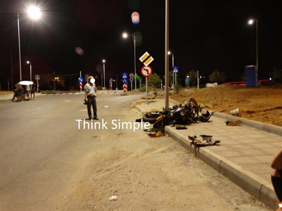 τροχαίο δυστύχημα - μοτοσυκλέτα - Πολίχνη Θεσσαλονίκης