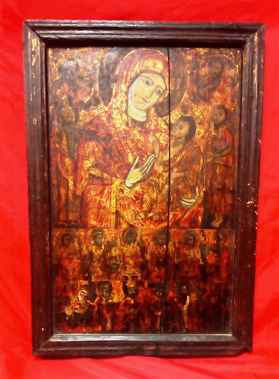 σύλληψη - αρχαιοκαπηλία - πώληση αρχαίας θρησκευτικής εικόνας