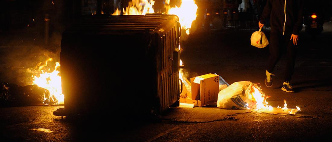 Φωτιές σε 12 κάδους απορριμάτων στην Θεσσαλονίκη