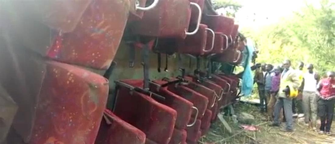 Φρικτό δυστύχημα με λεωφορείο στην Κένυα – Δεκάδες νεκροί επιβάτες (βίντεο)