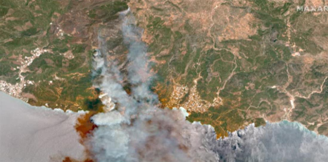Τουρκία - φωτιά - δορυφόρος