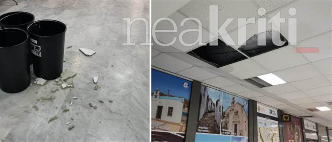 """""""Νίκος Καζαντζάκης"""": κλειστό το αεροδρόμιο Ηρακλείου, λόγω κακοκαιρίας"""