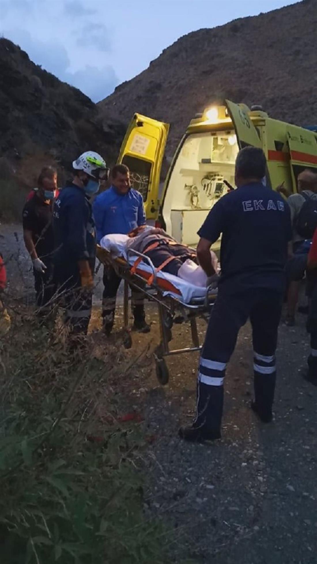 Κρήτη - επιχείρηση διάσωσης - φαράγγι - ατύχημα