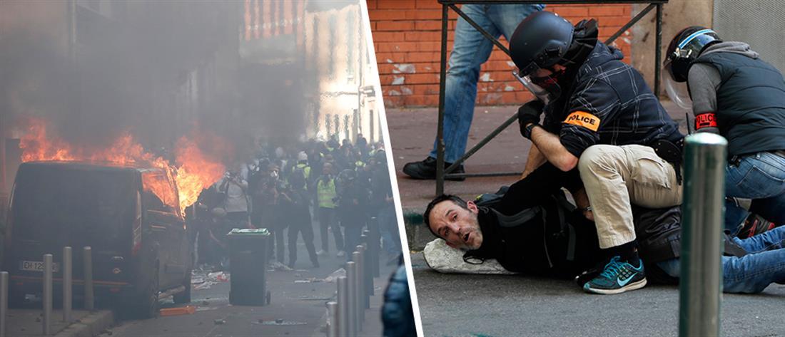 """Νέες συγκρούσεις """"κίτρινων γιλέκων"""" – αστυνομίας (εικόνες)"""