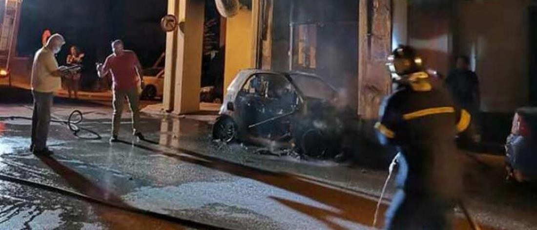 Πάτρα: έκρηξη σε αυτοκίνητο (εικόνες)