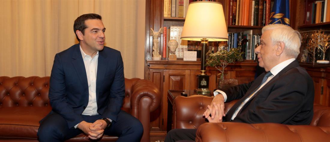 Στο Προεδρικο Μέγαρο ο Τσίπρας για τις πρόωρες εκλογές (εικόνες)