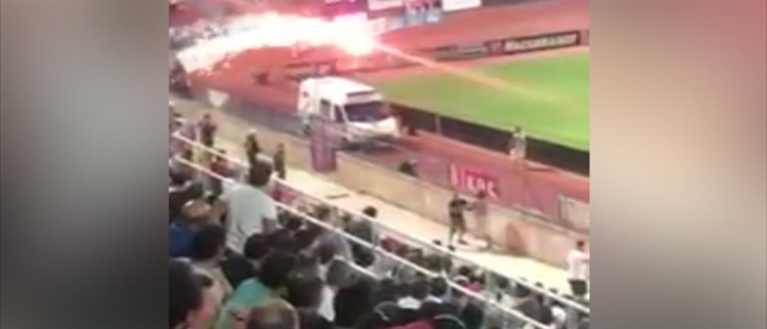 Βίντεο ντοκουμέντο από εκτόξευση φωτοβολίδας σε οπαδούς του Πανιωνίου